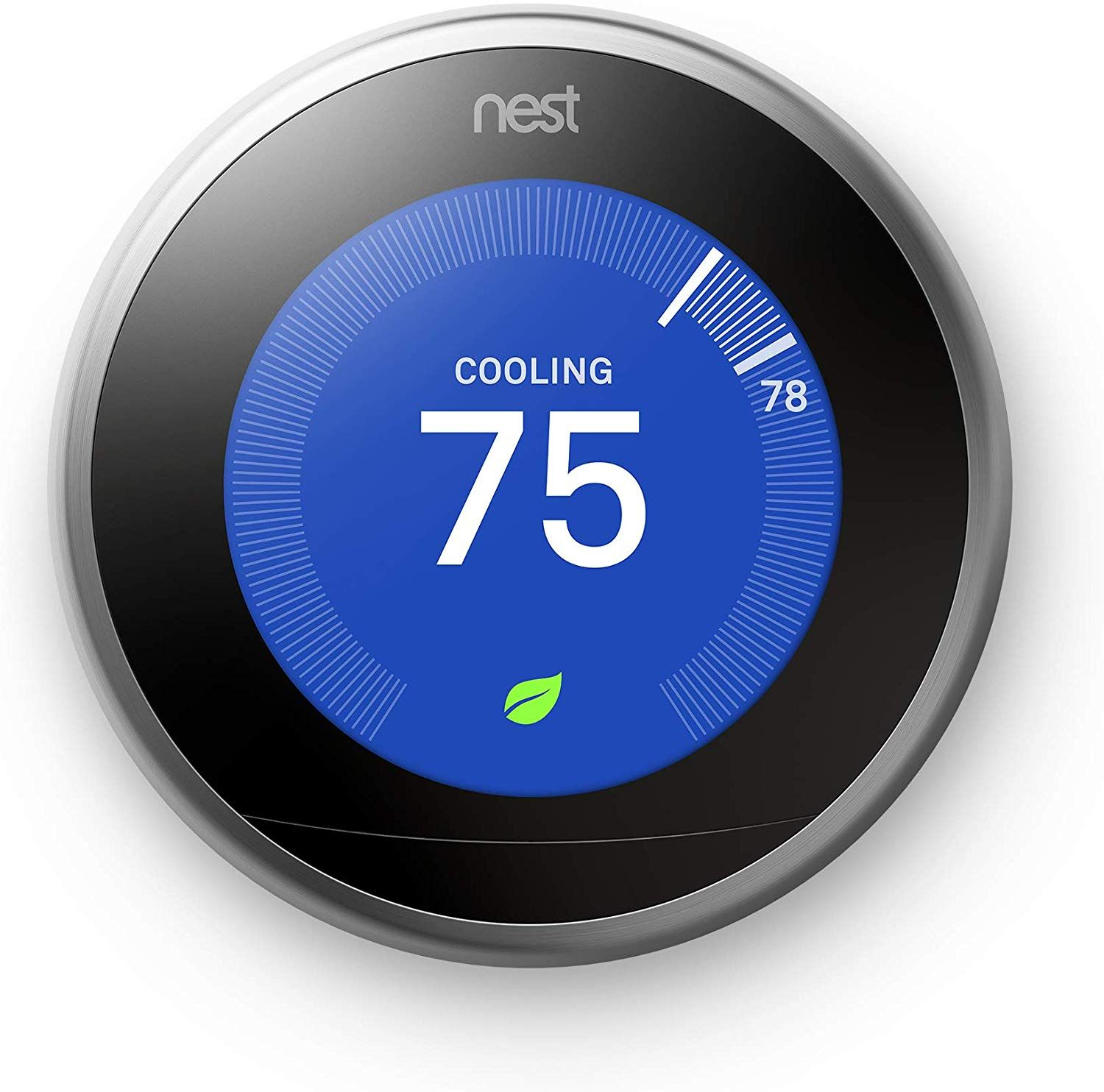 Nest Learning Thermostat 3rd Generation Stainless Steel Compatible With Alexa Nest Learning Thermostat Thermostat Works With Alexa