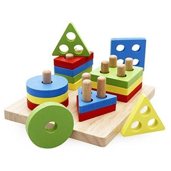 ORIGINAL rolimate Wooden Educational Preschool Shape Color ...