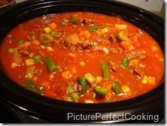 Spicy Beef Vegetable Soup #crockpotgumbo