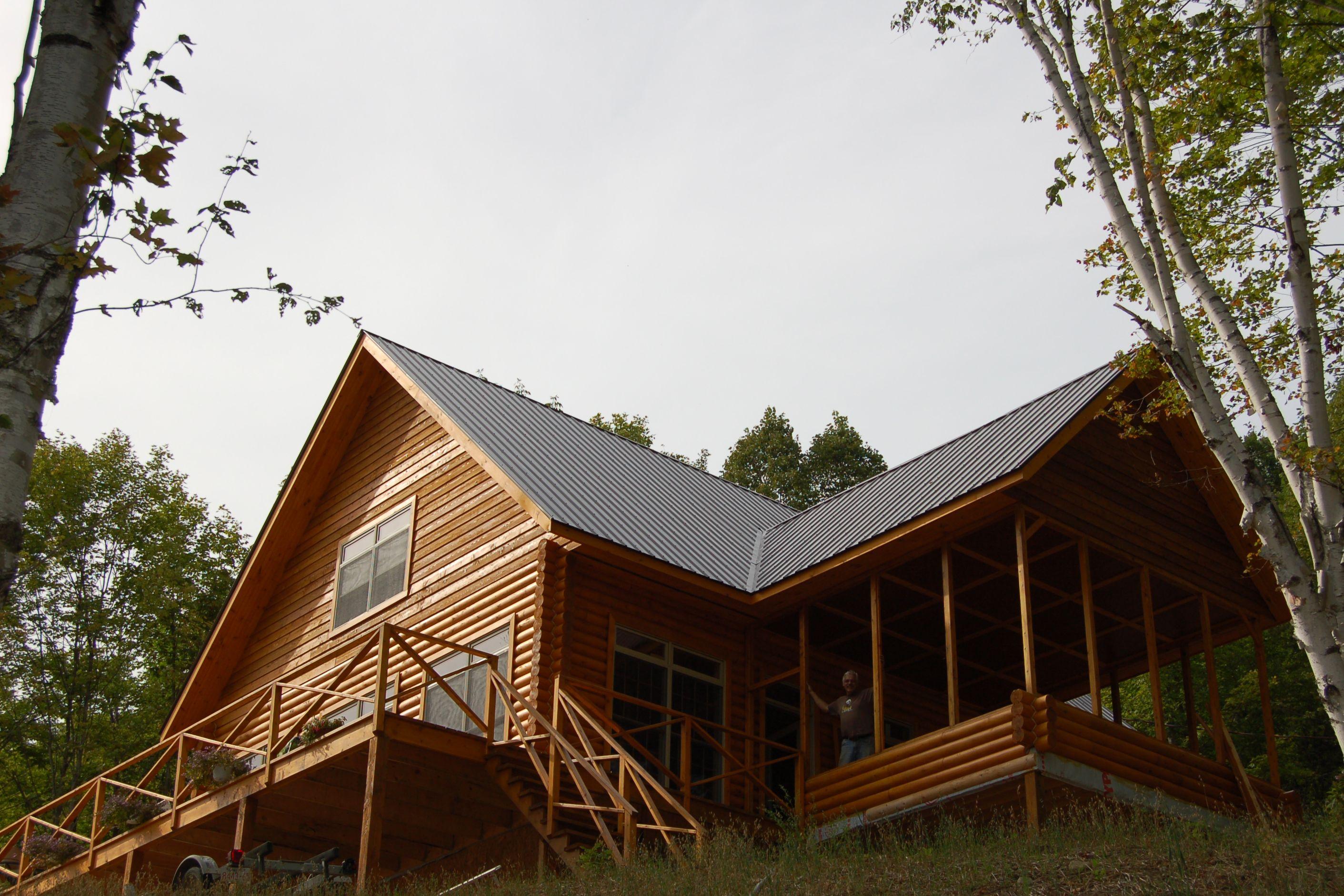 Maison de bois rond cadre Kenomee Log Homes Cedar Logs