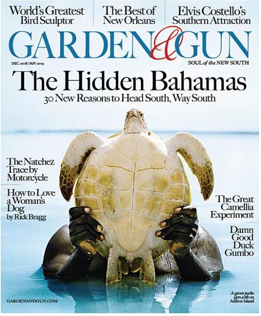 Garden \u0026 Gun. Magazine cover. The hidden Bahamas.