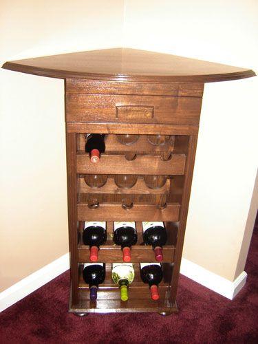 show us your stuff corner wine rack