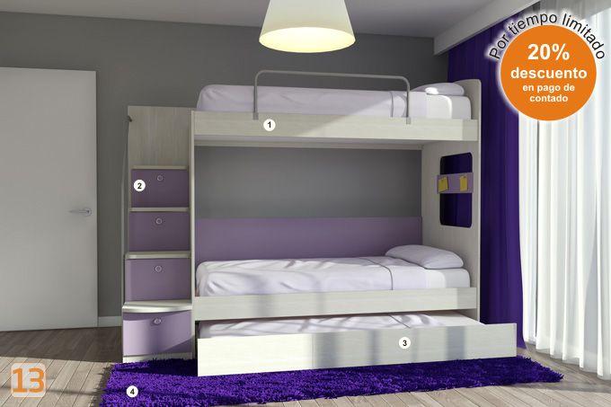 cama cucheta genova para nenas eleg la combinacin que quieras y arm el dormitorio a