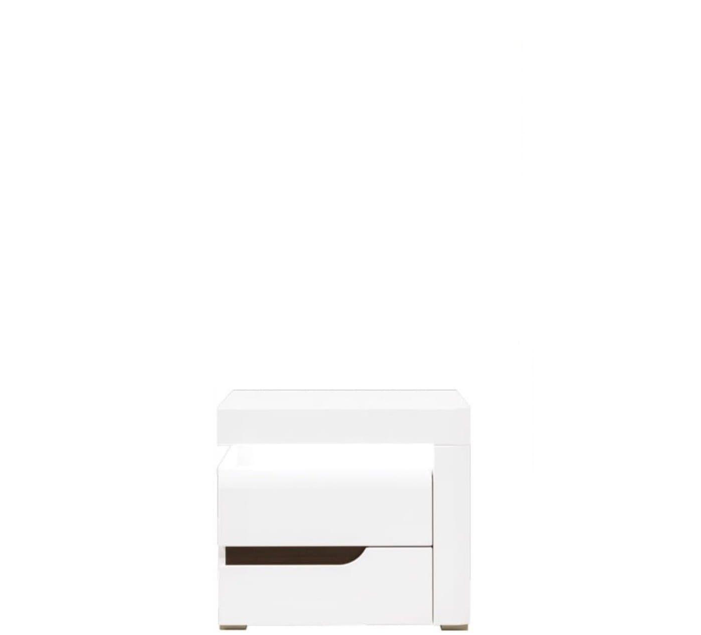 Right Bedside Table Irma Im18 White Gloss Bogfran