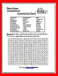 Properties of Matter Word Search