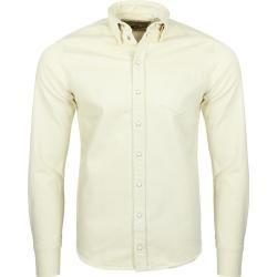 Photo of Rokker Prevelly Selvage Ecru Denim Shirt Bianco Giallo S Rokkerrokker