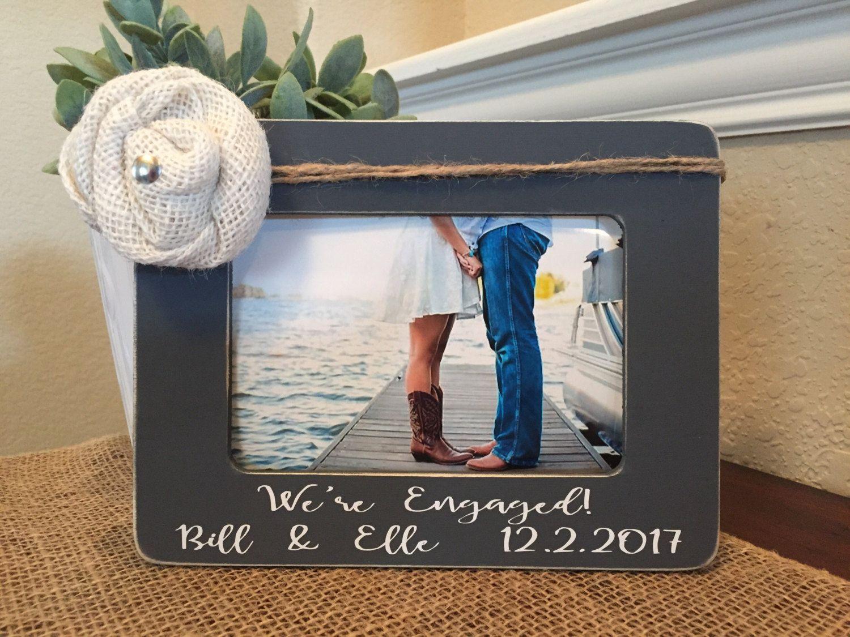 Engagement Gift Personalized Engagement Frame Wedding Gift She Said
