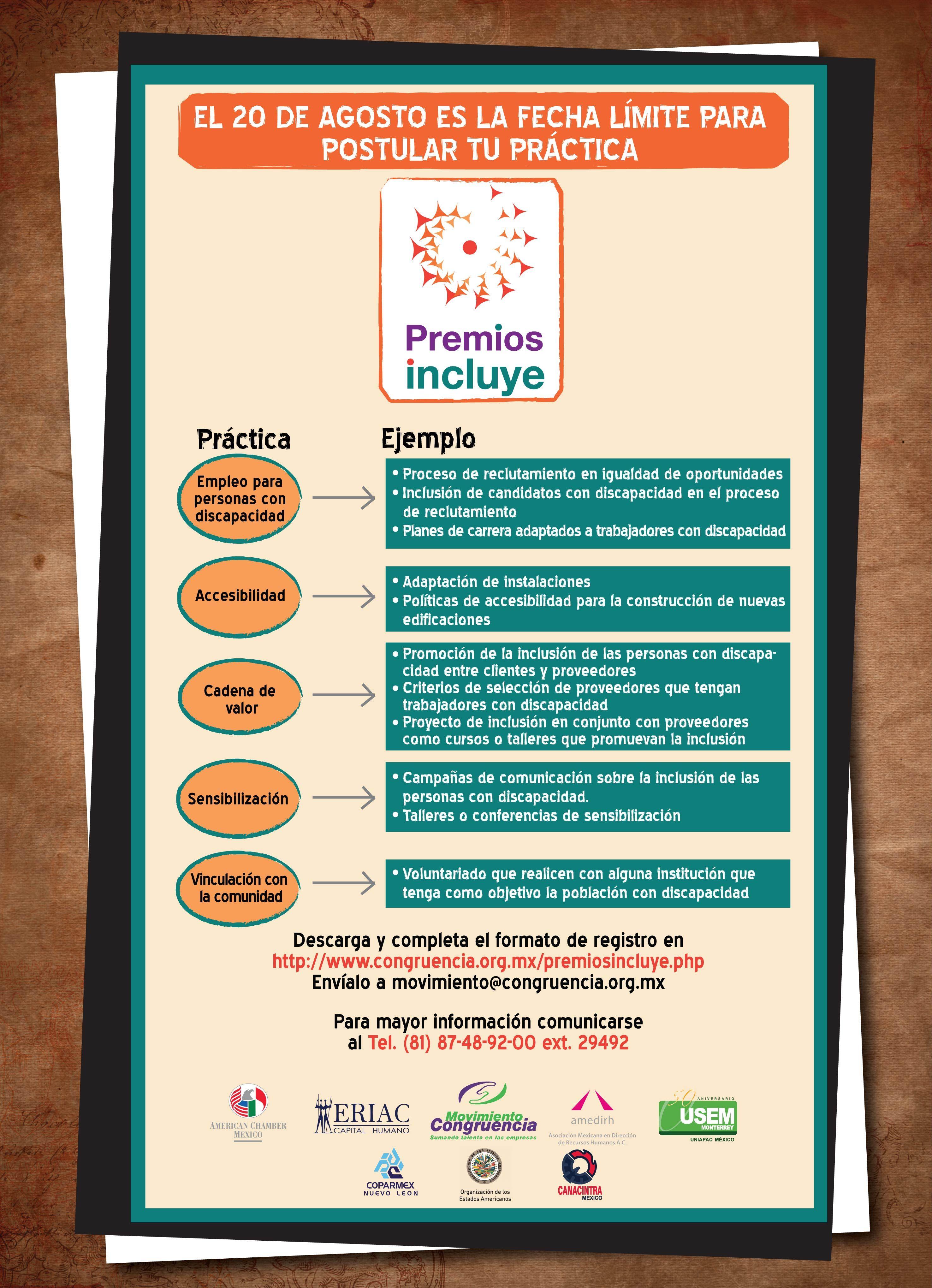 Ejemplos prácticas Premios Incluye
