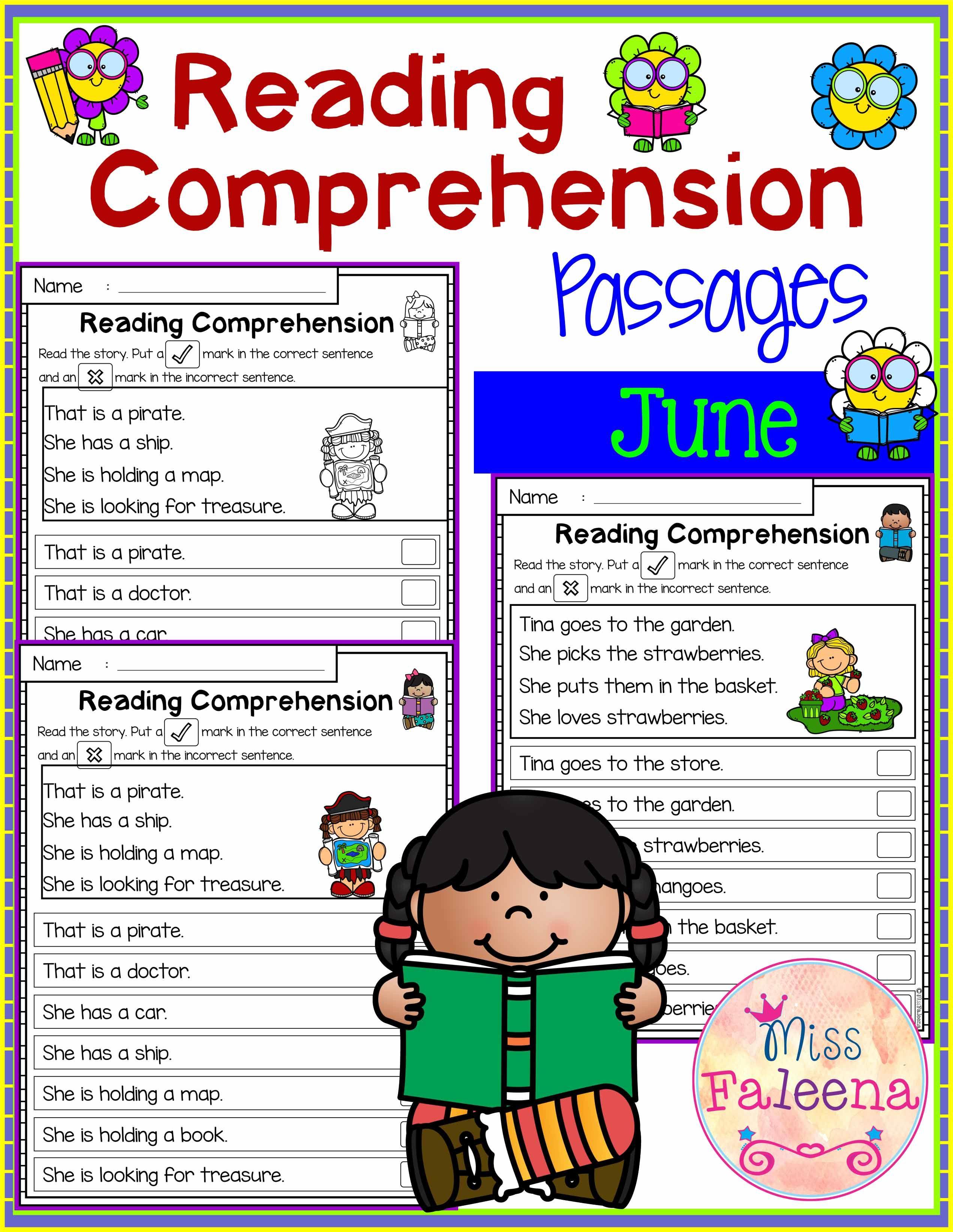 June Reading Comprehension Passages
