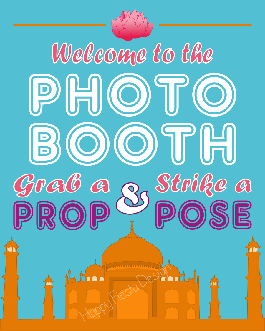 Printable India Photo Booth Props/ Bollywood Photo Props
