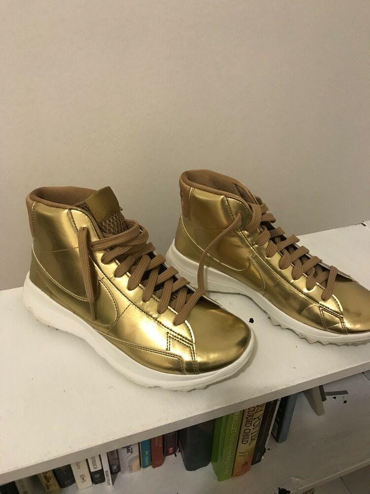 Nike Womens Blazer Golf Shoes 8.5 Metallic Gold 818730 700 ...