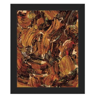 """Click Wall Art 'Bee Swarming' Framed Print of Painting Size: 14"""" H x 11"""" W x 1"""" D, Frame Color: Black"""