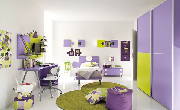 50 Wonderful Children Bedroom Design Ideas With Glossy Purple Wardrobe And Bed Design Purple Kids Bedrooms Purple Bedroom Design Purple Room Design