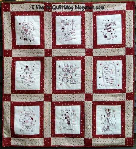 Redwork+Christmas+Quilt+Patterns | Weekly Themed Quilt Contests ... : quilting contests - Adamdwight.com