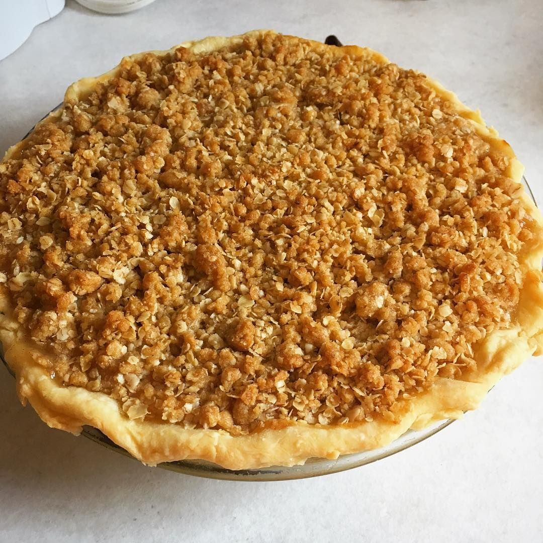 Dutch apple pie: pie crust cheesecake layer apple pie filling and crumble. All homemade of course. #CanadianThanksgiving #dessert #pie #applepie #halifax #thanksgiving