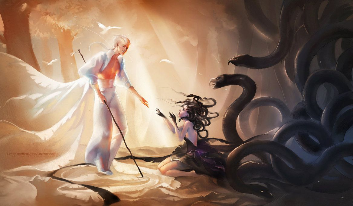Medusa's Saviour Resubmit by sakimichan on DeviantArt