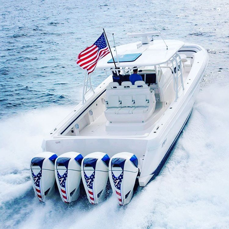 Stars And Stripes Seven Marine Outboards X4 Center Console