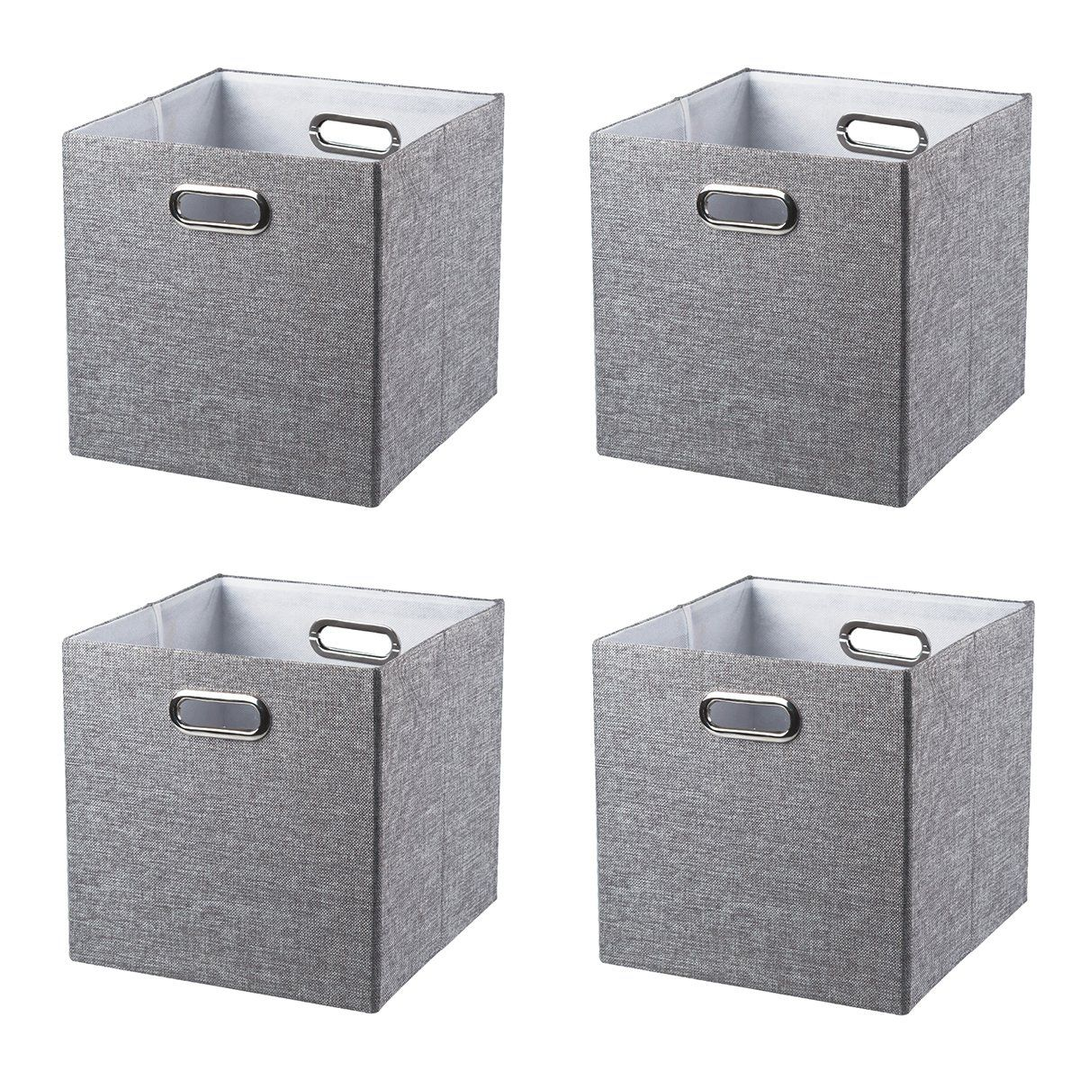 Baist Fabric Storage Cubes,fancy Big Collapsible Colored Linen Bed Drawer Storage  Baskets Bins Organizers