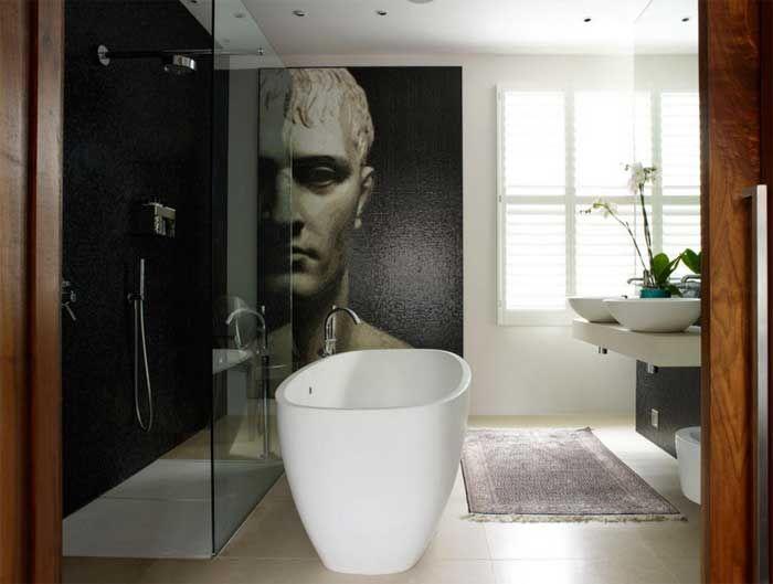 Duravit freistehende badewanne gestaltung weiße farbe mit glastür dusche design im bad modern für badezimmer…