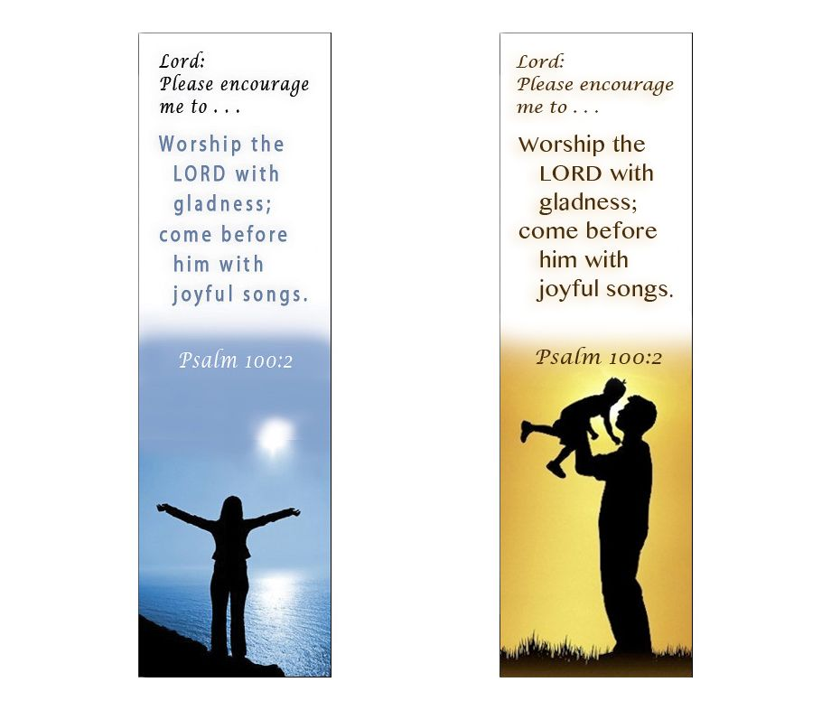 Products Bookmarks Design Inspiration And: Worship The Lord . . . Psalm 100:2 (Scripture Bookmark