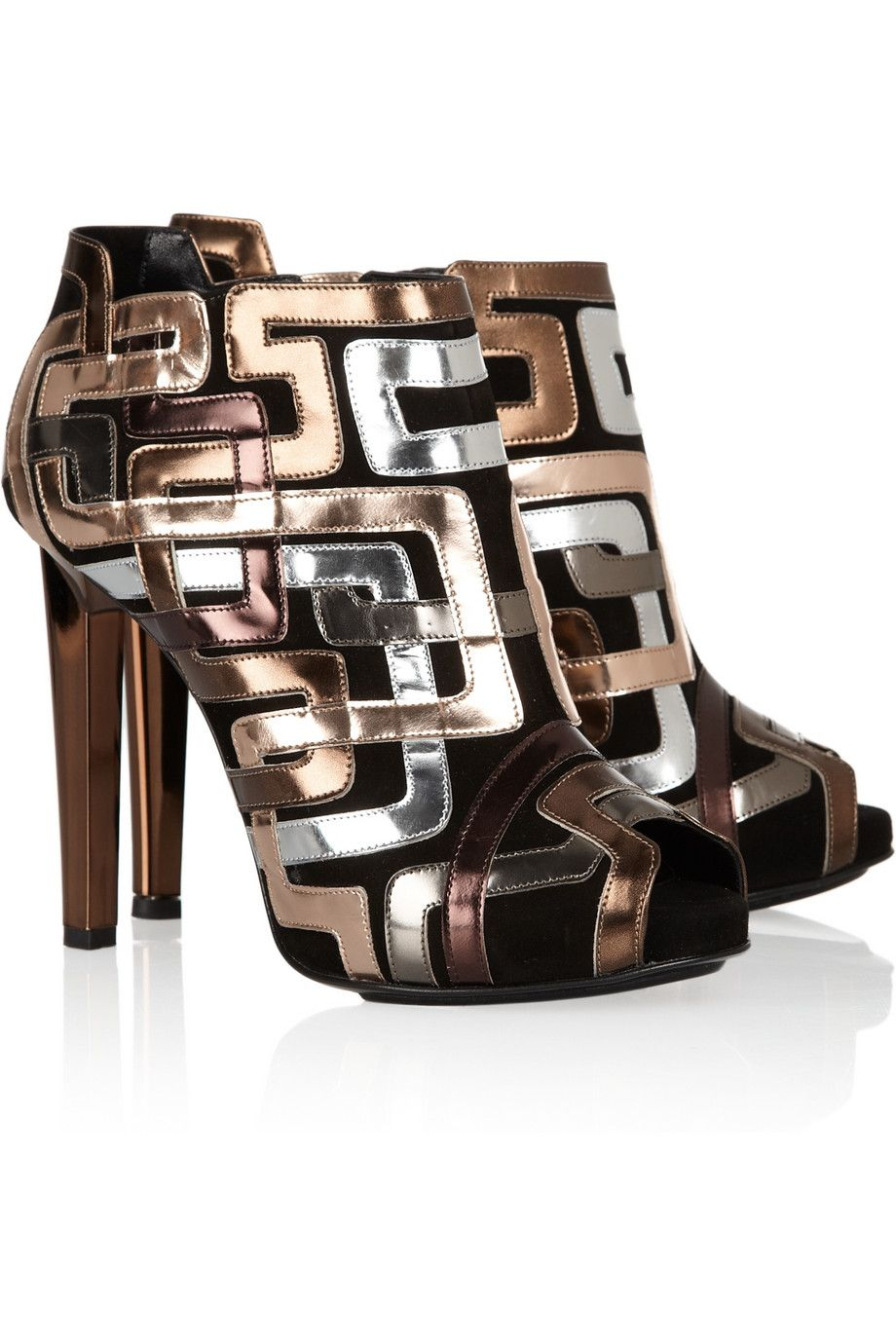 2014 new online Pierre Hardy Metallic-Trimmed Ankle Boots fast delivery cheap online free shipping shop for W3g55xvDem