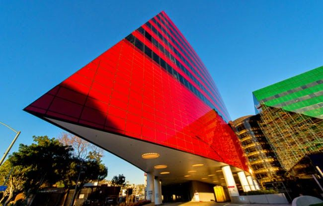 Since 2007, when construction began on the Red building at the Pacific Design Center in West Hollywood, the building has been the subject of a stream of questions and speculation. Description from wehoville.com. I searched for this on bing.com/images