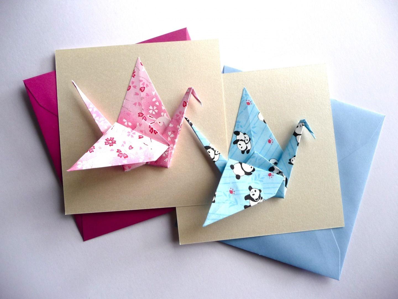 faire part naissance origami grue paper crafts. Black Bedroom Furniture Sets. Home Design Ideas