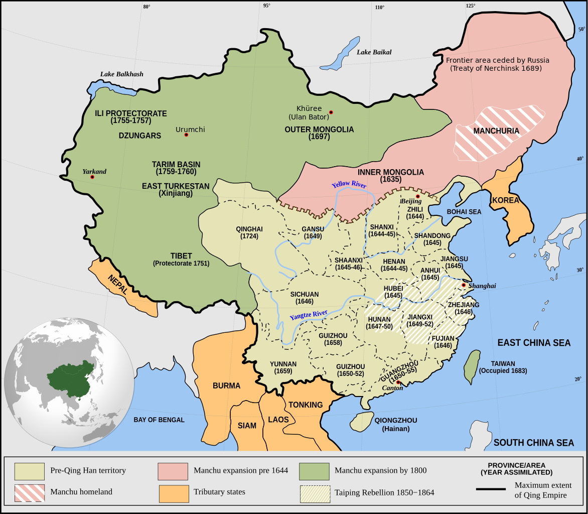 1644-1800) Qing Dynasty Expansion | (1234-1911) Late Imperial China ...
