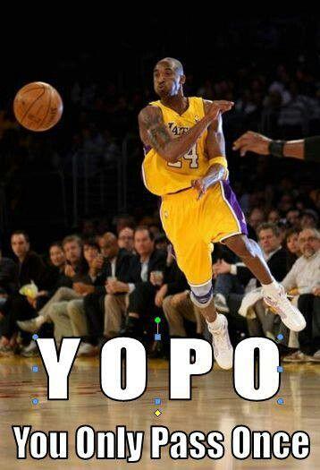 To Everyone Who Thinks Kobe Is A Ball Hog Well Here S To Ya Lol