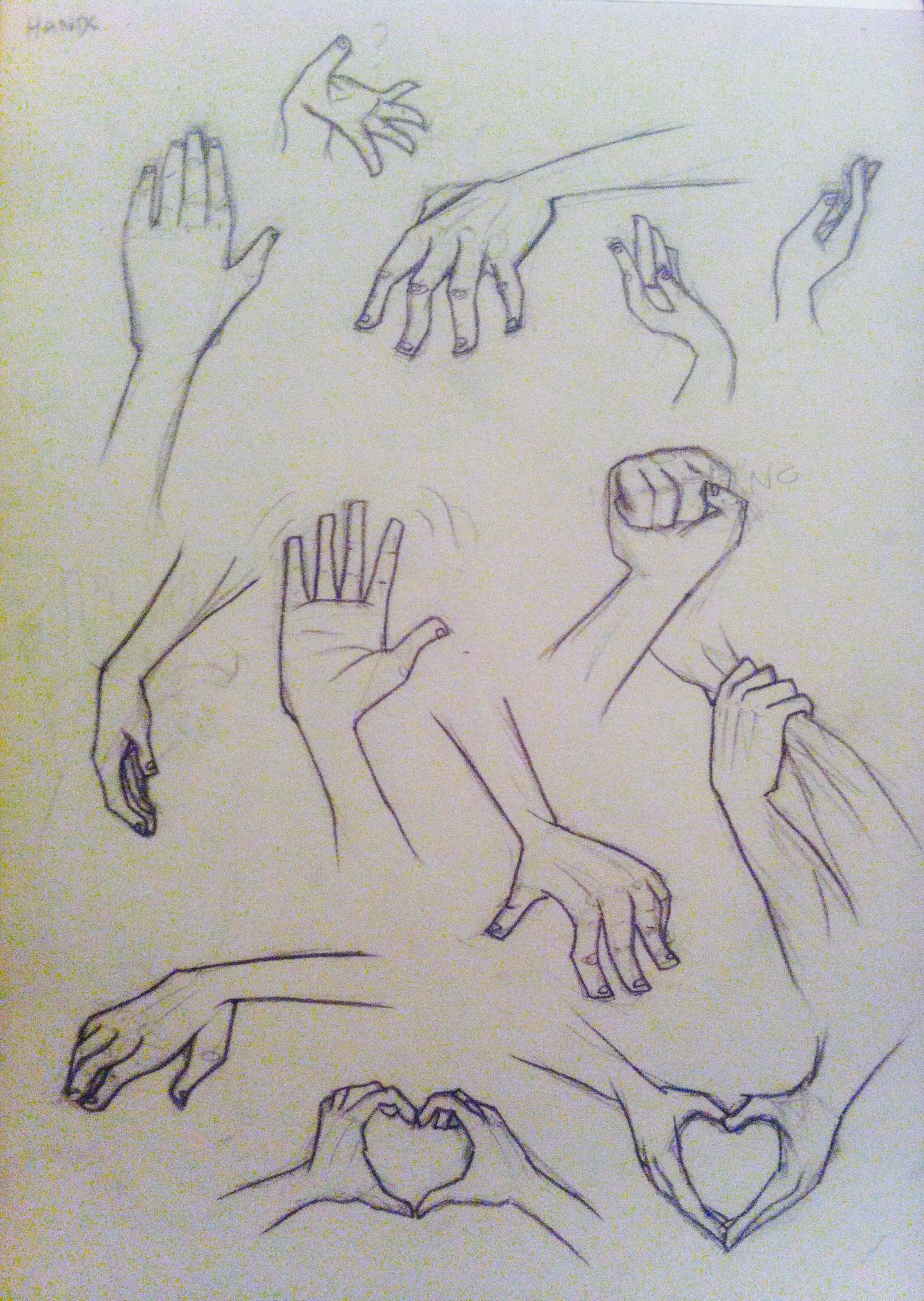Sketches of stylised hands~ #hands #anatomy #art | Anatomy ...