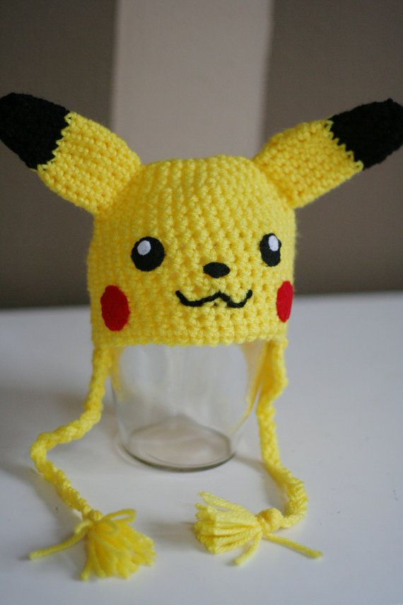 Crochet Pikachu Hat ( recém-nascido )(China (Mainland))  332061e71db