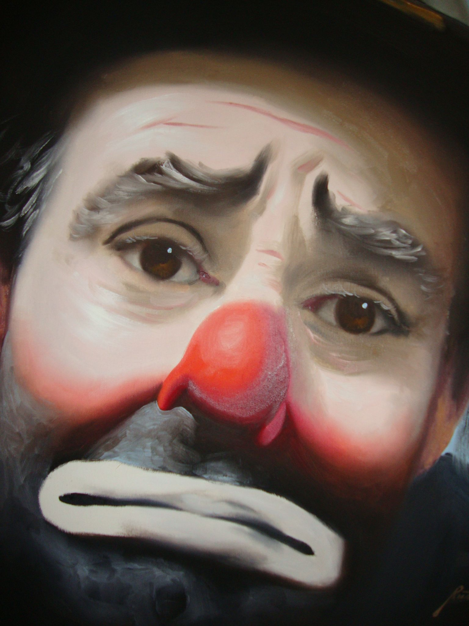 Sad A 17 Year Old Pregnant Girl Commits Suicide In River: This Is My Sad Clown Painting. It Hangs In
