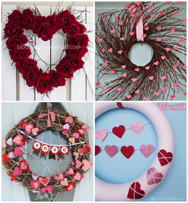 valentine wreath craft idea for valentines day - 640×691