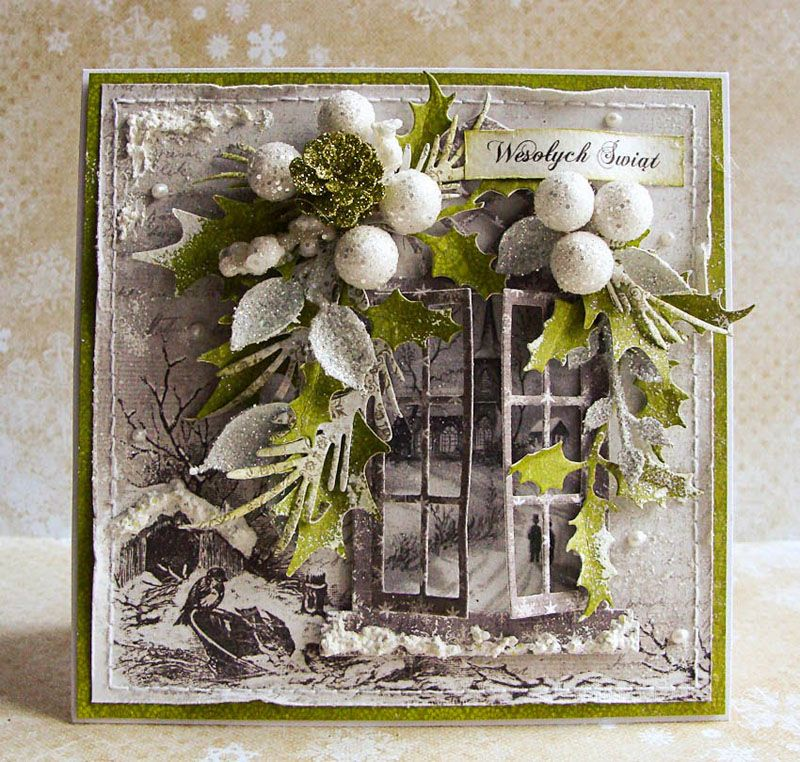 Открытку маме, скрапбукинг рождественская открытка