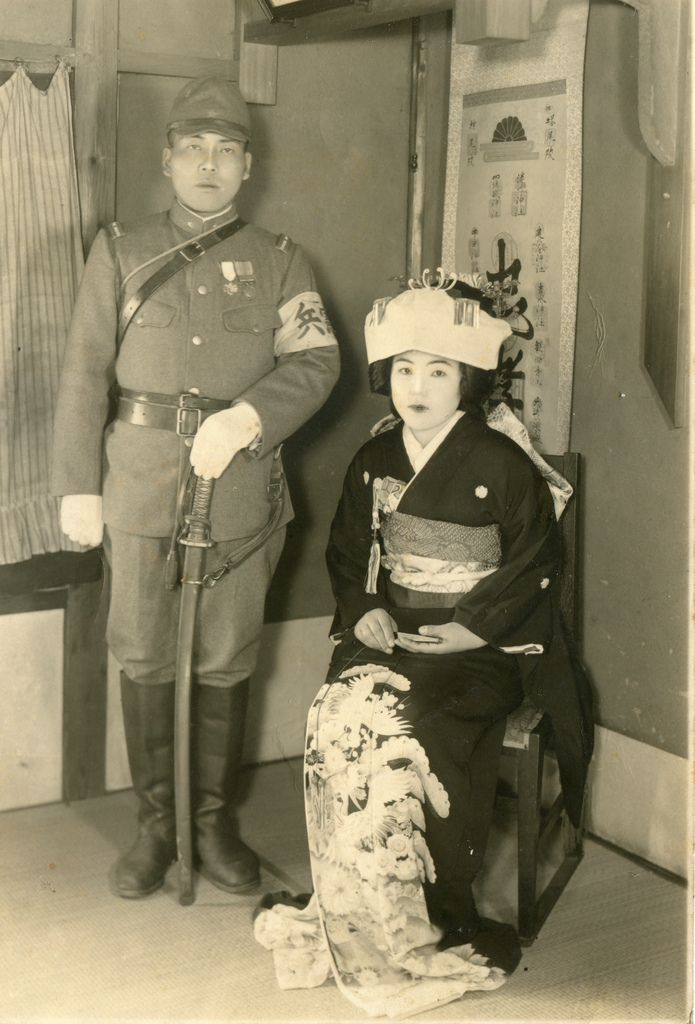Japanese army Kempeitai (military police) sergeant on his wedding