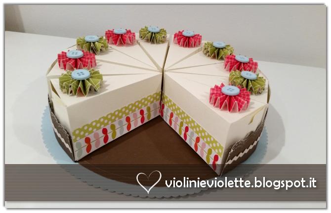 Violini e Violette: Torta di carta