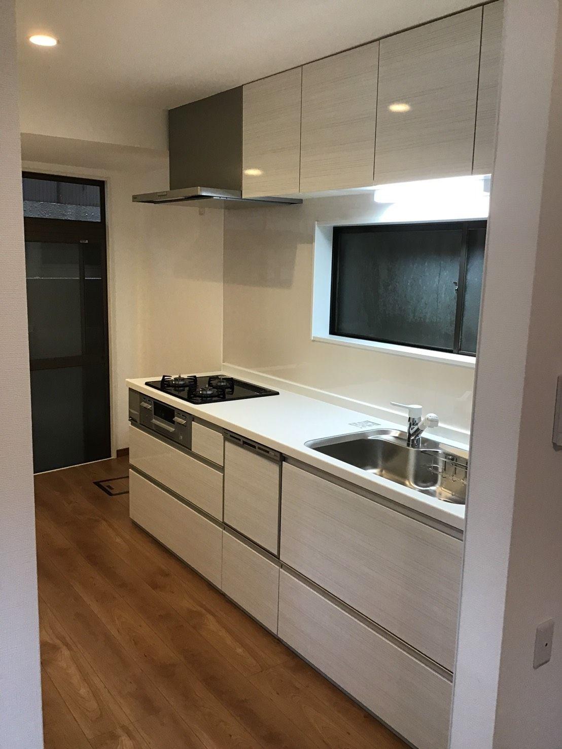 キッチン パナソニック Vスタイル アルベロホワイト キッチン フローリング キッチンデザイン