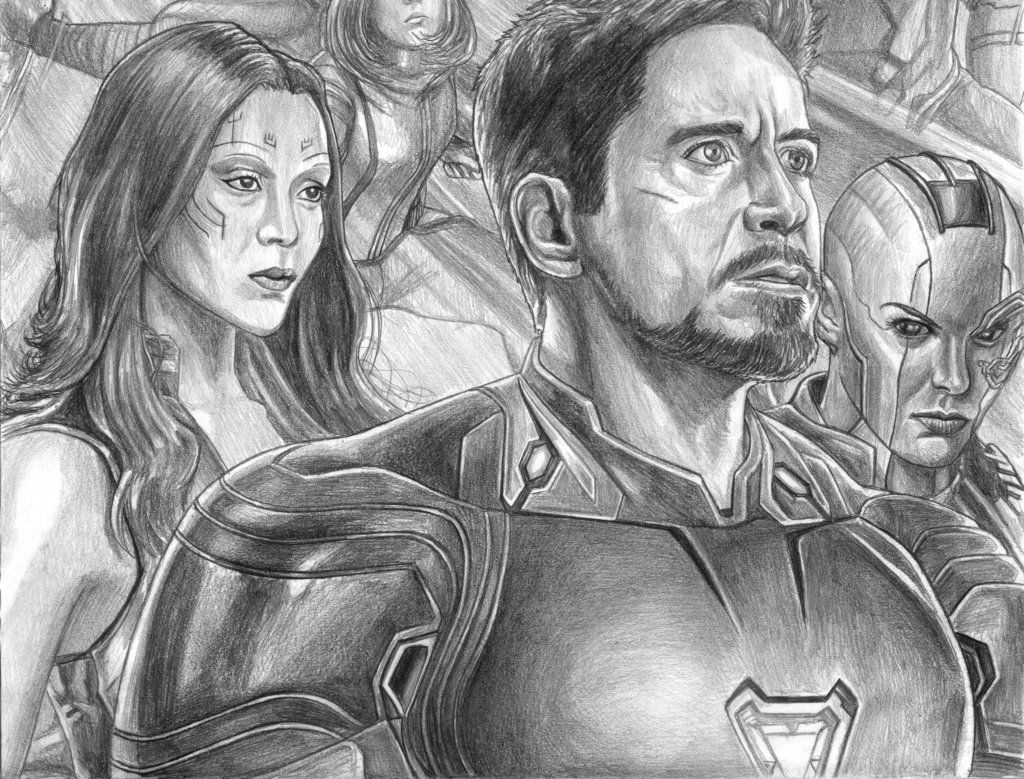 Avengers Infinity War Iron Man S Side By Soulstryder210