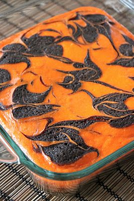 Cream Cheese Swirl Halloween Brownies