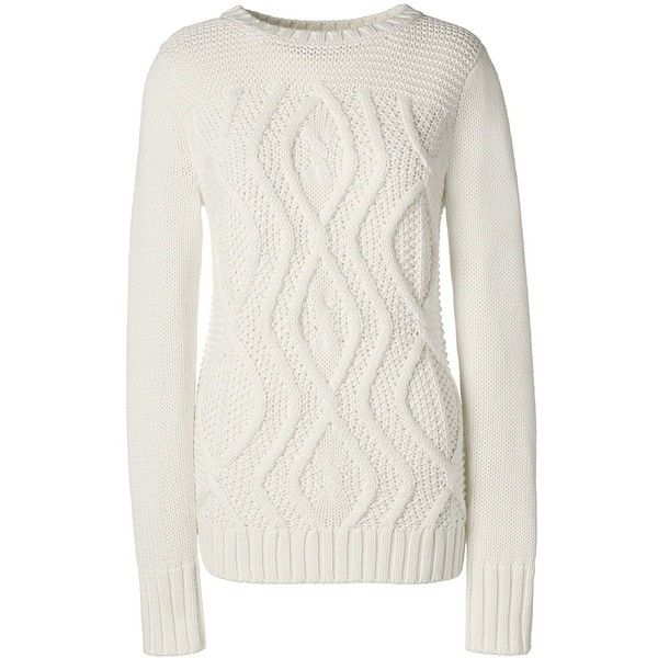 Lands' End Women's Petite Cotton Cable Sweater - Drifter ($59 ...