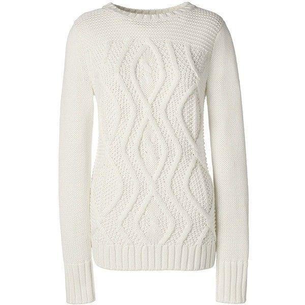 Lands' End Women's Petite Cotton Cable Sweater - Drifter ($59 ...