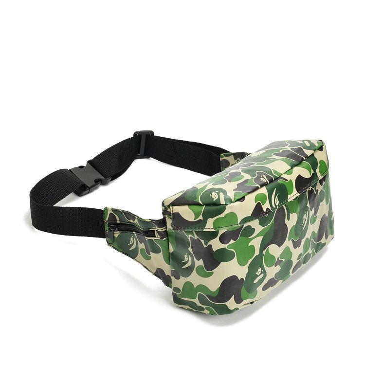 e1f00ccc21  4.98 Famous Brand High Quality PU Leather Camouflage Bag BAPE Waist Pack  Sports Leisure Bag-in Waist Packs from Luggage   Bags on Aliexpress.com