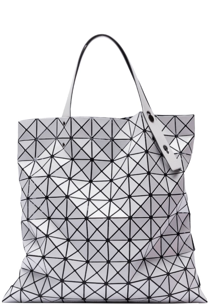 Prism Basic Tote Bag by BaoBao Issey Miyake. The Prism tote bag features  small triangles placed on lined mesh fabric. 9dbe1710697d2