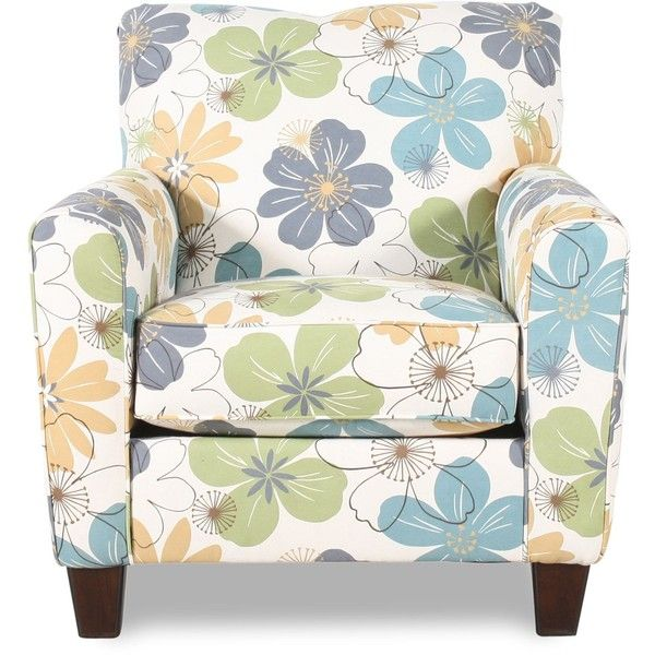 Ashley Kylee Goldenrod Accent Chair-love the whimsical fabric on this chair