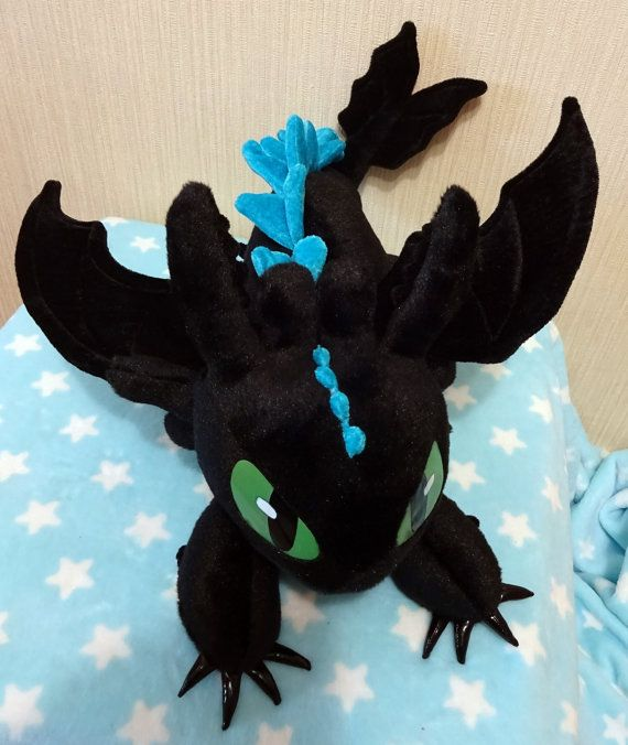 8b81e61d64d How to Train Your Dragon inspired Alpha Mode Toothless the Night Fury  (38x48x48 cm) large plushie