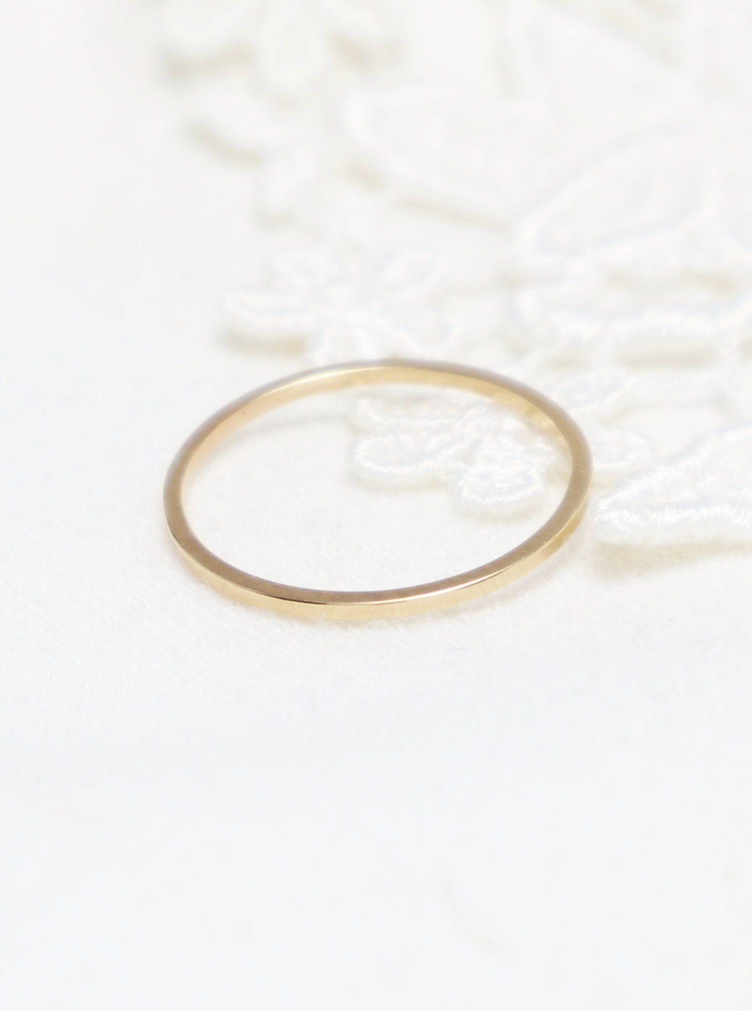 e8e7e09df20ba Super Thin Gold Square Ring, Gold Rings For Women, Thumb Ring ...