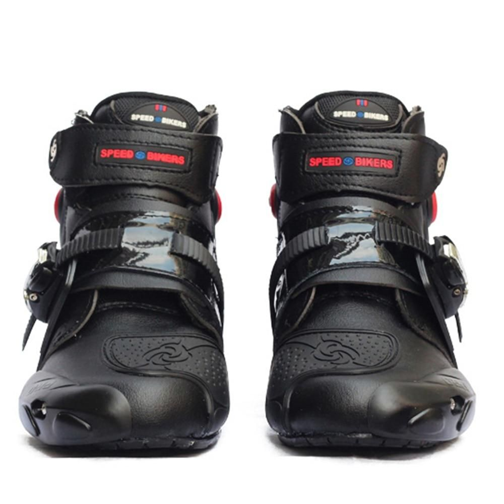Motorcycle Ankle Racing Speed Bikers Leather Race Riding Street Moto Boots