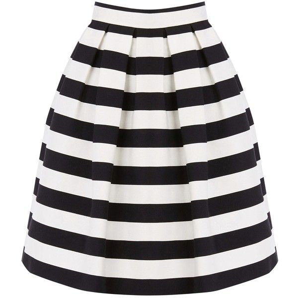 Warehouse Stripe Prom Skirt Black White 39 Liked On