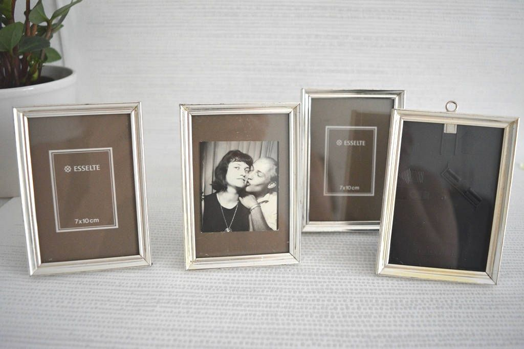 Vintage picture frame in a quartet silver simple design elegant ...