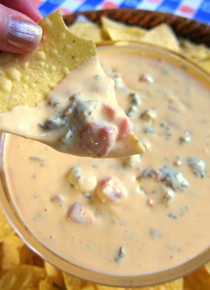 Kicked Up Queso This Is A Kicked Up Version Of Your Standard Rotel Queso Dip This Version Has Sausage Cream Cheese And Recipes Food Mexican Food Recipes